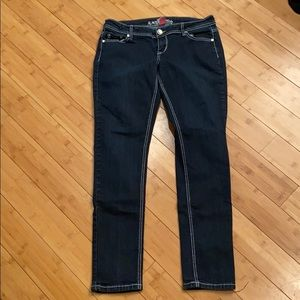 Almost Famous Dark Wash Jegging Sz 13